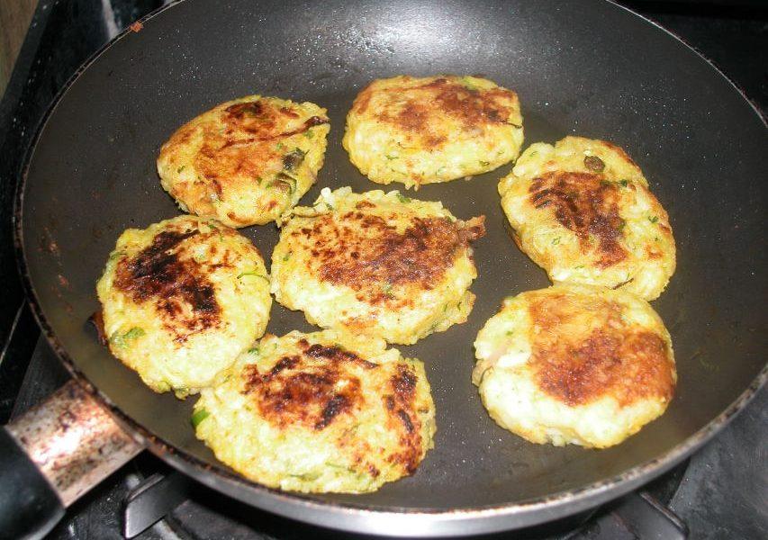 leftover rice patties