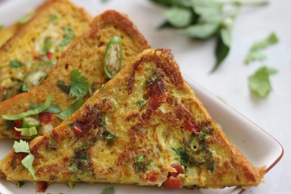 Savoury French Toast, Indian style