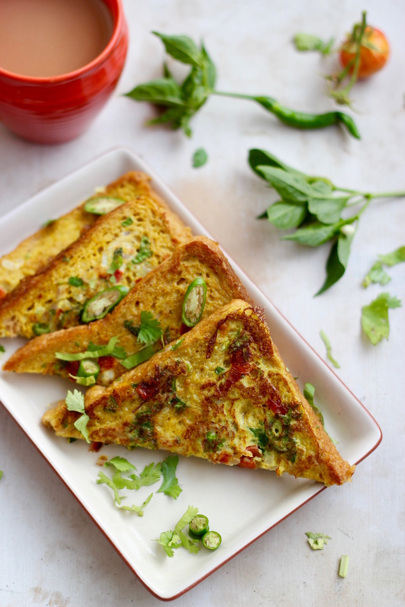 savoury French toast Indian style