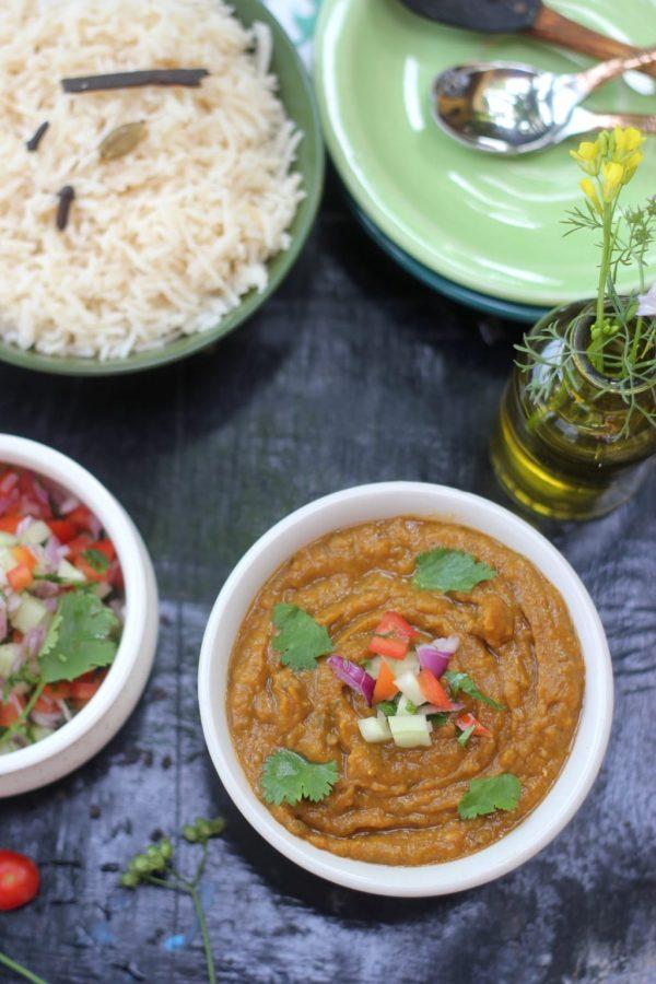 Veg Dhansak / Vegetarian Parsi Dhansak