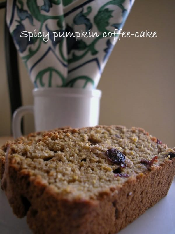 Recipe for Spicy pumpkin coffee cake