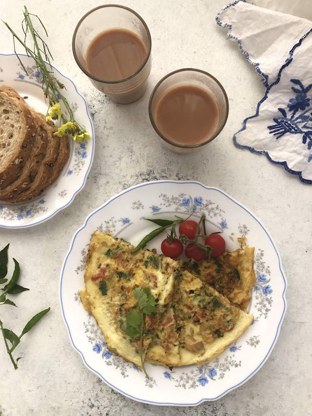 Poro - the jewelled Parsi Omelette