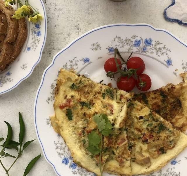 poro-parsi-omelette