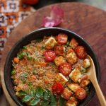A nourishing bowl of oats for dinner | Spiced Vegetable Oats