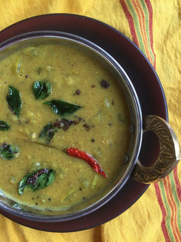 Podalangai Kootu / Pudalangai Kootu / Snake gourd with lentils