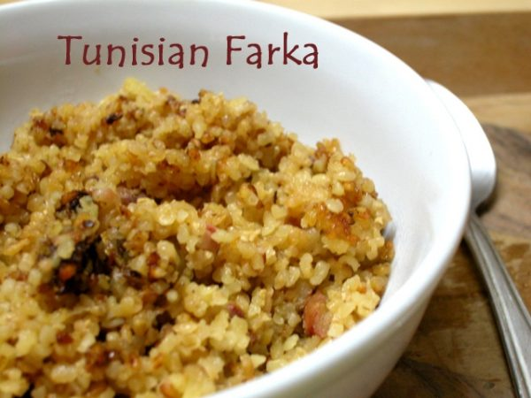 Farka - a Tunisian breakfast porridge