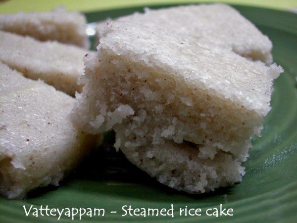 Vattayappam - Steamed rice cakes from Kerala