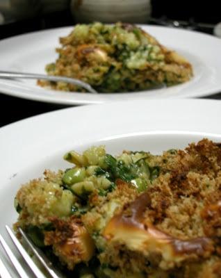 Cauliflower-Spinach-Pasta Casserole