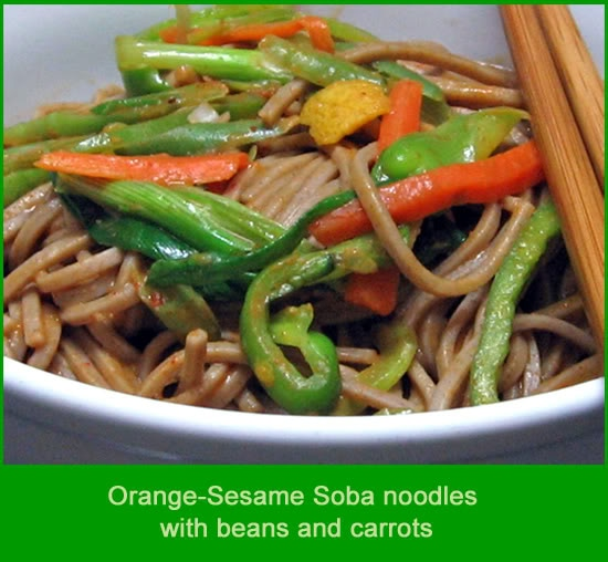 Orange-Sesame Soba Noodles