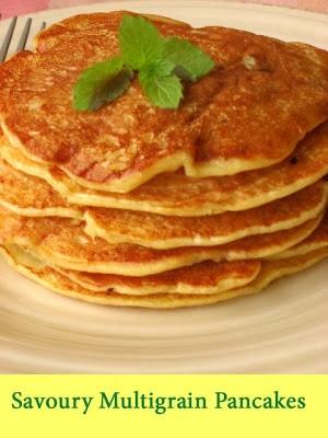 Savoury multigrain yeast pancakes
