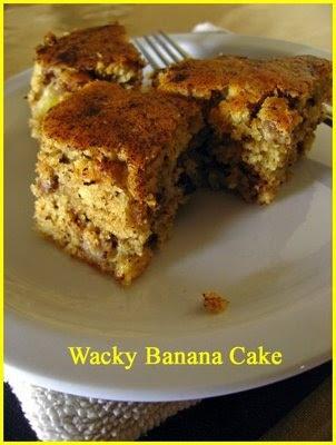 Wacky Banana Cake