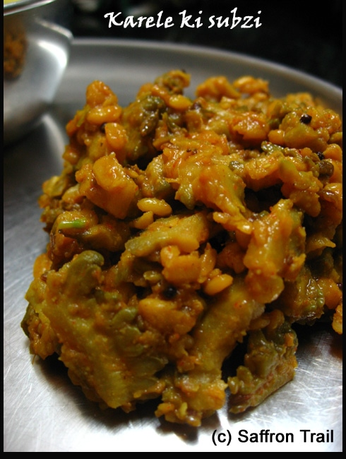 Karela with kachori masala - Bitter gourd made better