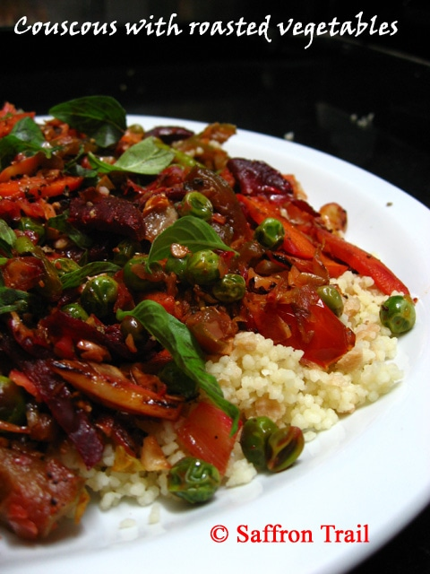Quick Dinner Recipe: Couscous with roasted vegetables