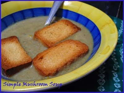 'Souper' supper - Simple Mushroom Soup