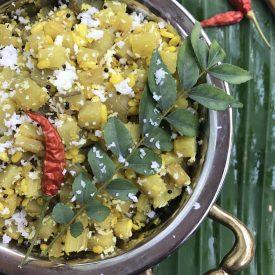 banana-stem-curry-vazhaithandu-moong-dal-recipe