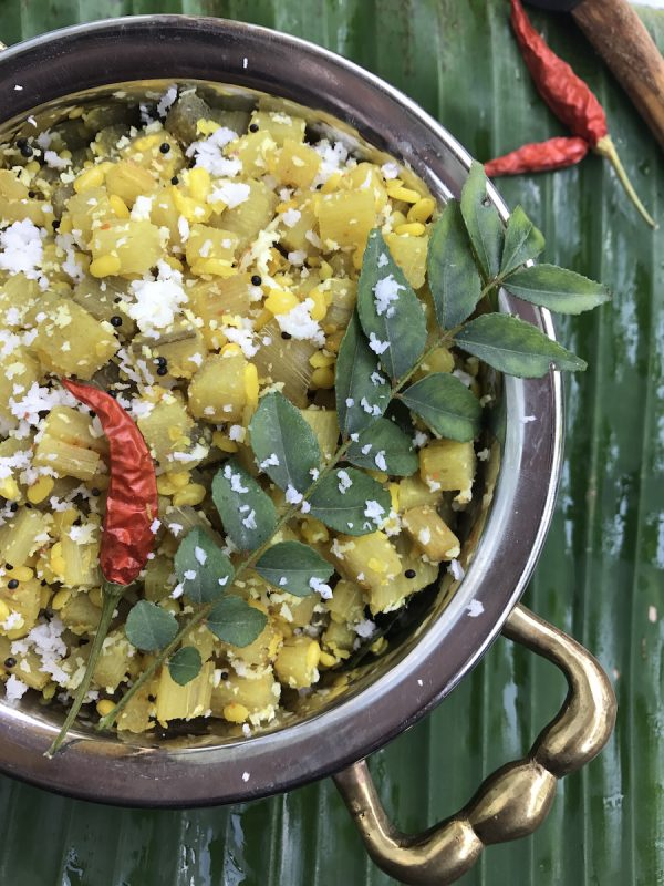 Banana Stem Curry | Vazhaithandu Moong Dal curry