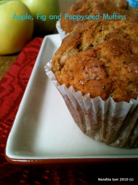 Apple Fig and Poppyseed Muffins