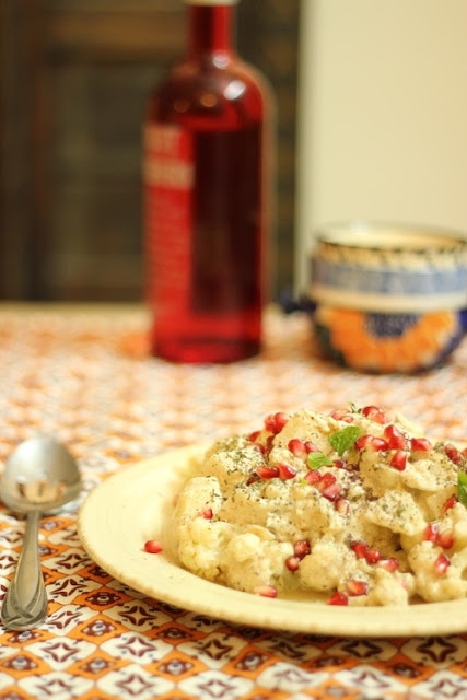 Cauliflower Potato Cold Salad with Middle-Eastern Flavours