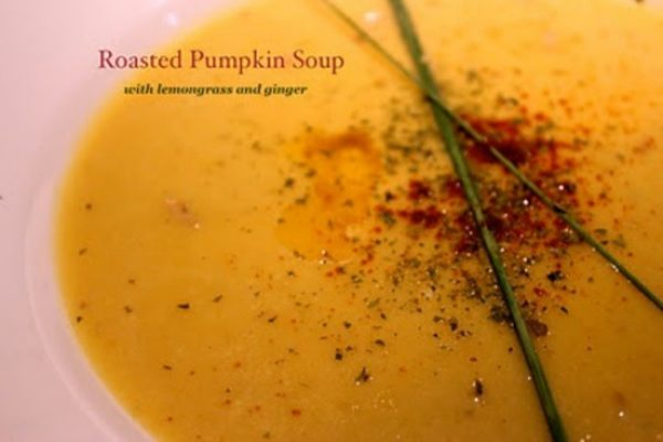 Roasted Pumpkin Soup with flavours of Lemongrass and Ginger