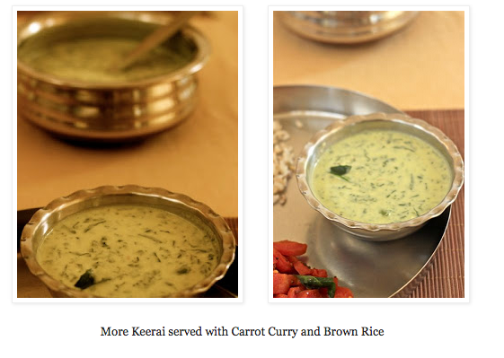 Morkeerai or Spinach and yogurt stew : Garden to plate