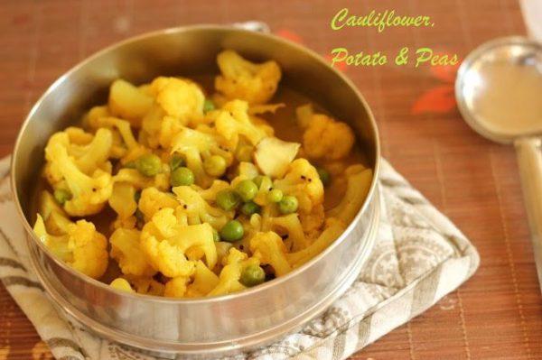Amma's Cauliflower Peas Koottu