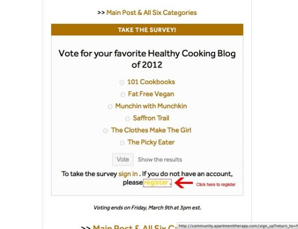 Homies 2012 Finalist in Best Healthy Food Blog- Need your Votes