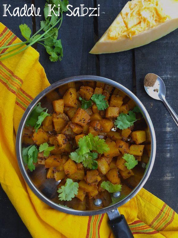 Kaddu ki Sabzi | Punjabi Pumpkin Curry
