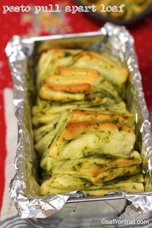Breaking Bread with Pesto Pull Apart Loaf