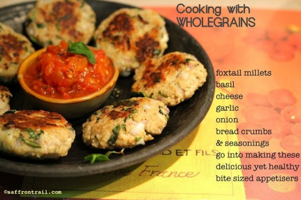 Foxtail Millet and Basil Patties - Another recipe using this wonder grain