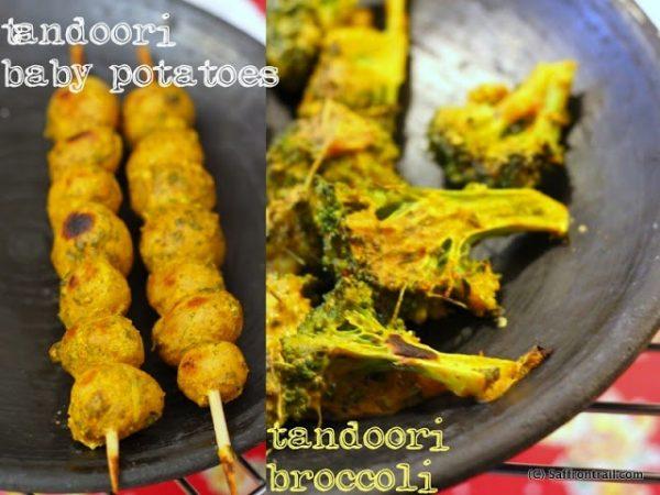 Tandoori Aloo and Tandoori Broccoli [no tandoor required]