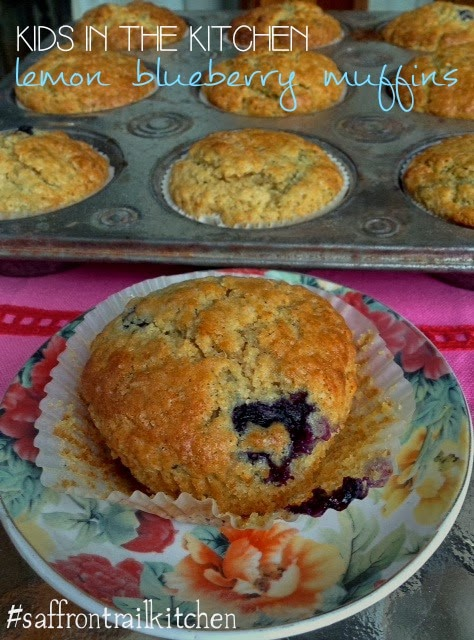 Lemon Blueberry Muffins With The Kid In The Kitchen