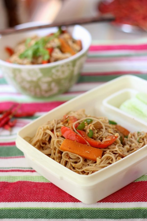 Recipe for Vegetable and Peanut Noodles