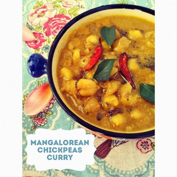 Mangalorean Chana Gassi / Ghassi - South Indian Chickpeas Curry