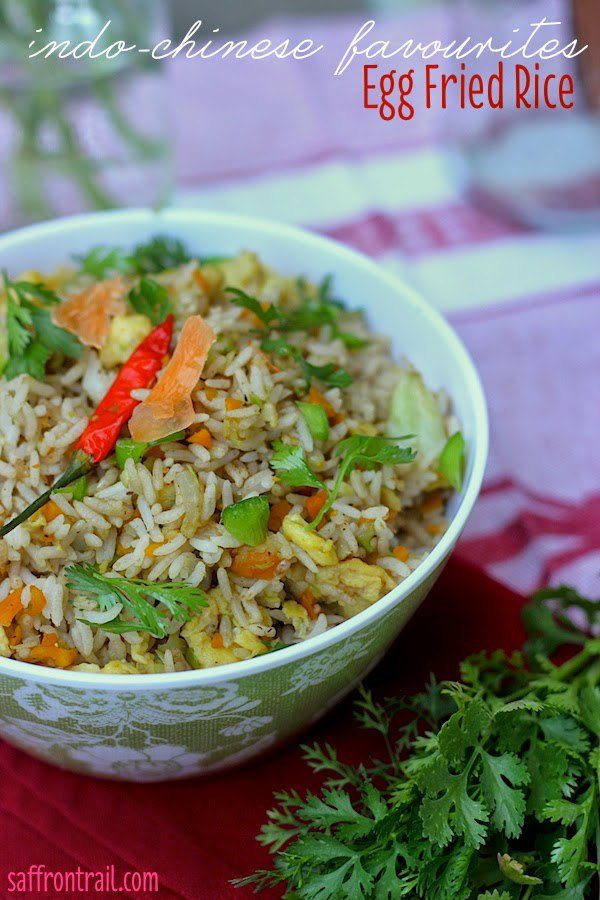 Egg Fried Rice - Indian Chinese style