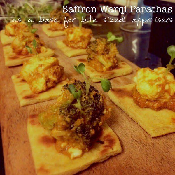 Recipe for Saffron Warqi Parathas from Chef Saransh Goila