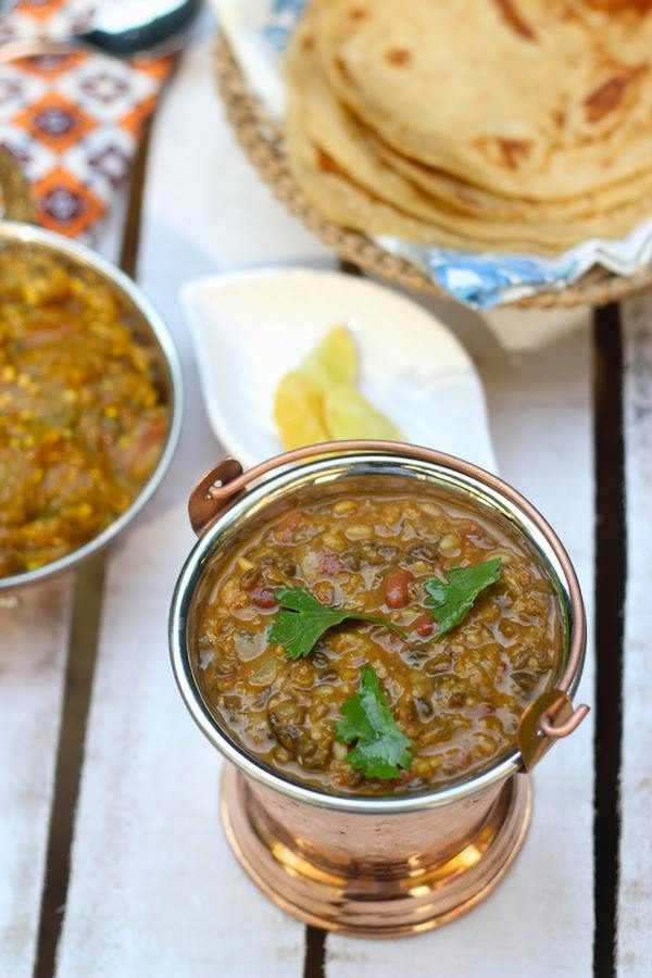 Recipe for Dhabewali Dal - Punjabi mixed lentils