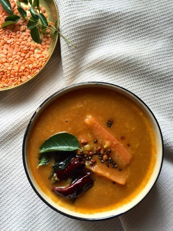 Recipe for Karnataka Sambar with Masoor Dal