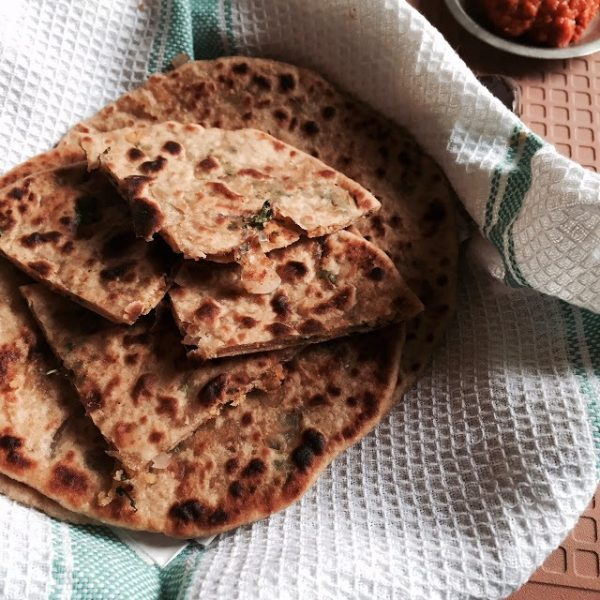 Recipe for Paruppusili stuffed Dal Parathas