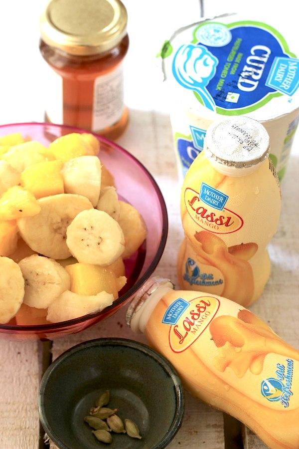 Mango Lassi Banana Frozen Yogurt