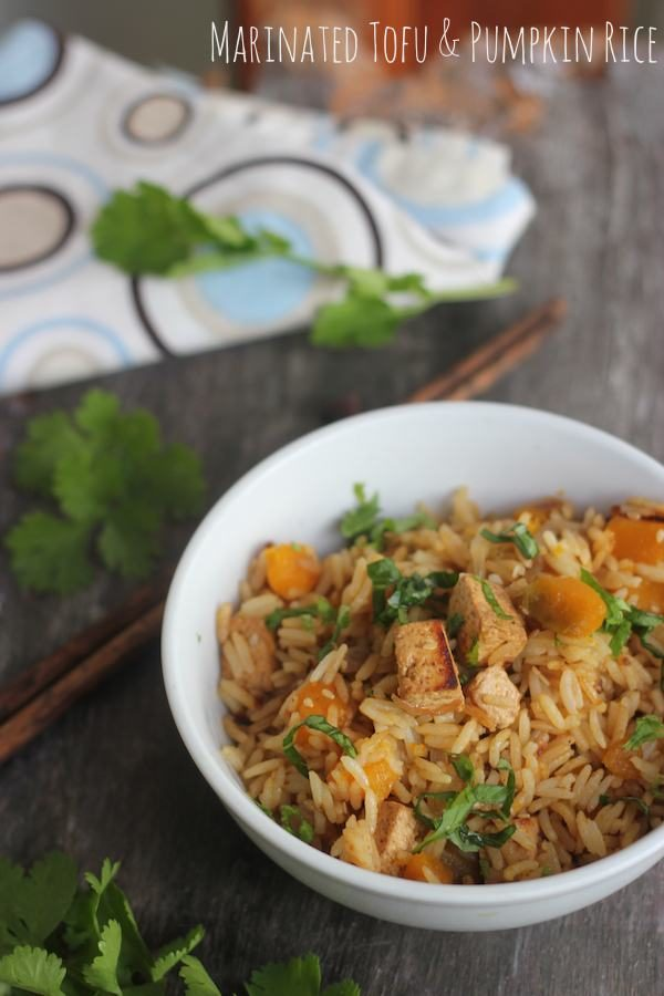 Lunchbox Recipe: Marinated Tofu & Pumpkin Rice