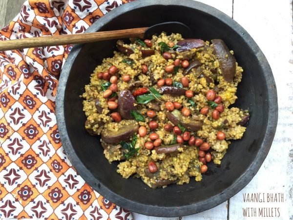 Vaangi Bhath with Foxtail Millet