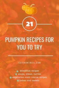 vegetarian pumpkin recipes