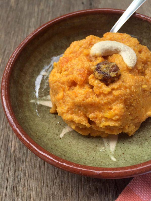 Pumpkin and Carrot Halwa - An Indian dessert