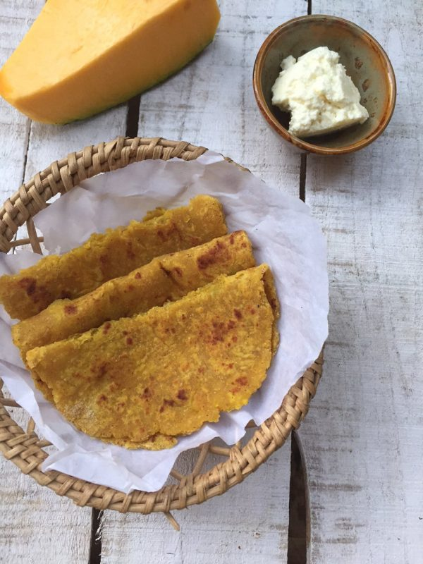 Pumpkin Paneer Parathas - Lunchbox Recipe