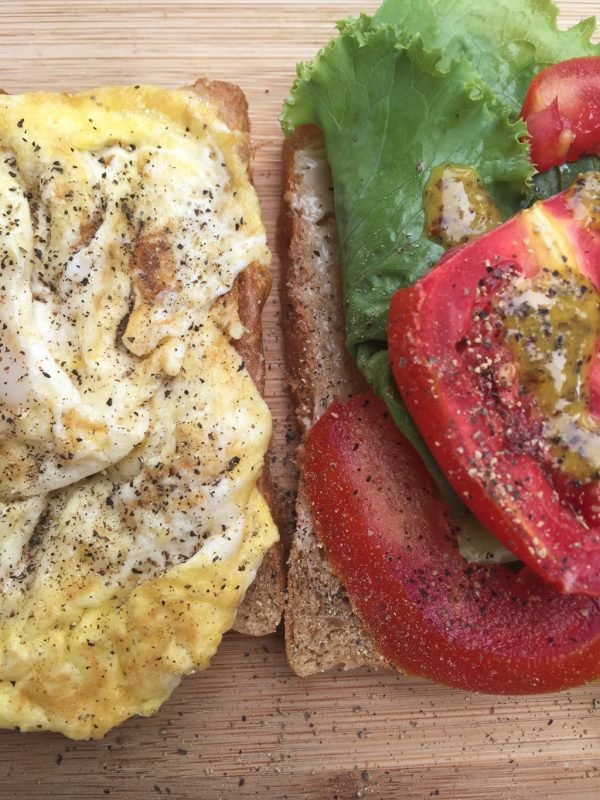 Travel with this Sandwich - Egg Lettuce Tomato Sandwich