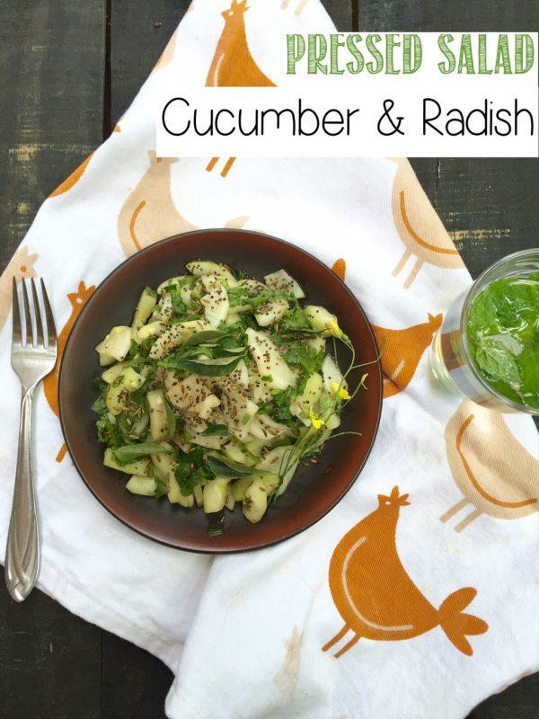 Fast Day Recipe - Cucumber Radish Pressed Salad
