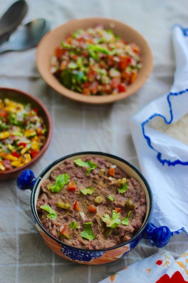 Refried Beans / Frijoles Refritos - Vegetarian Mexican Recipes