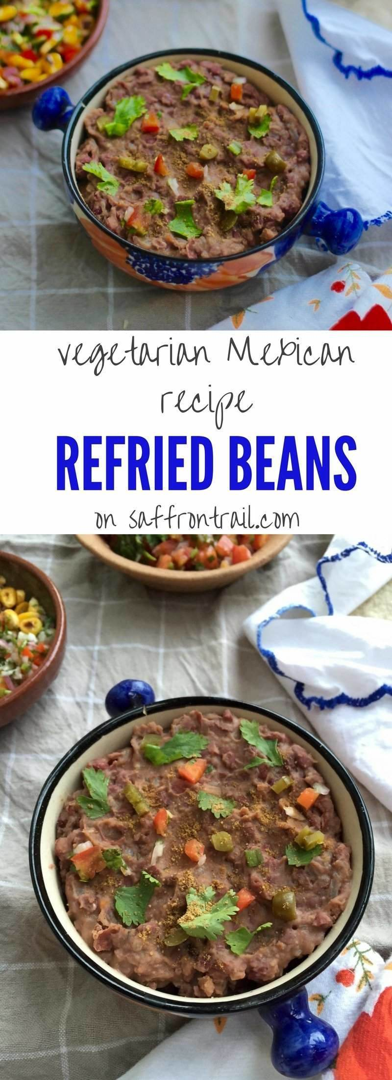 Refried Beans / Frijoles Refritos - Vegetarian Mexican ...