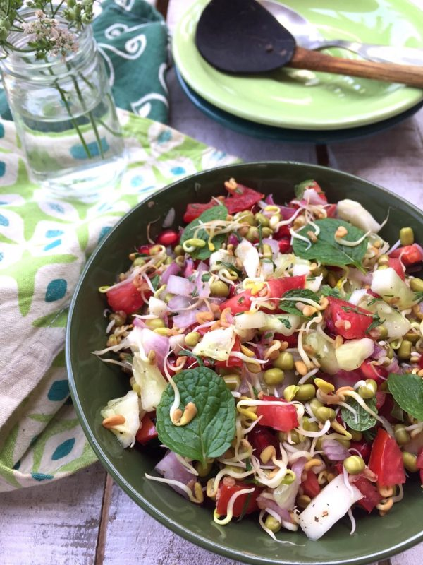 Sprouted Fenugreek / Methi Seed Salad