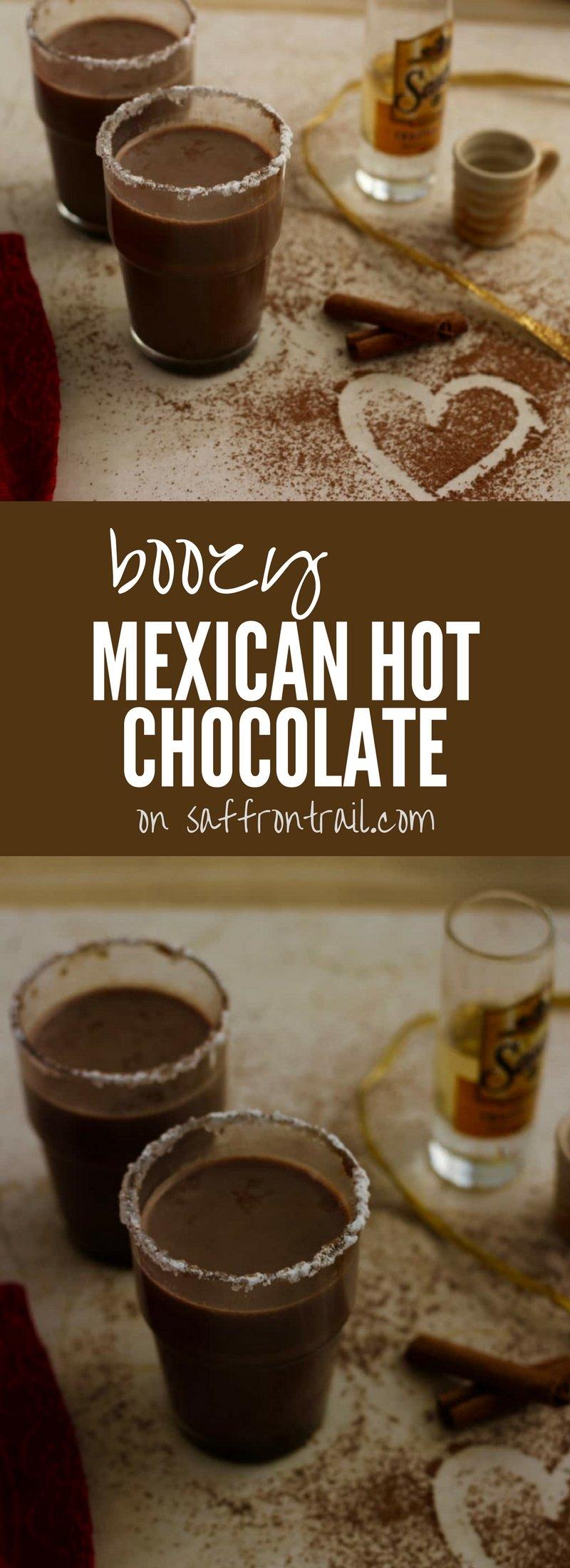 Mexican Boozy Hot Chocolate for Two Recipe | Saffron Trail